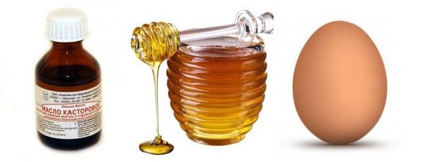 Маска для волос с касторовым маслом, желтком и медом