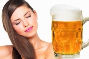 Маска для волос из пива