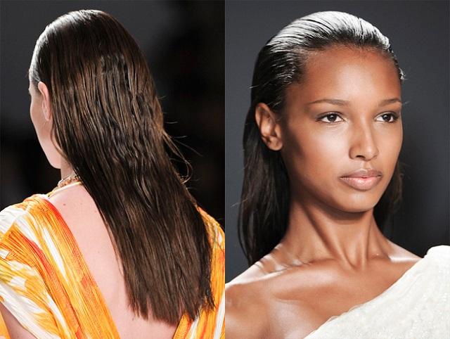 Укладка эффект мокрых волос