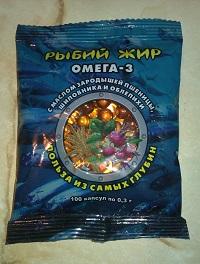 """Фото рыбьего жира в капсулах """"Омега-3"""": 100 капсул по 0,3 г"""