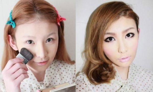 Азиатский мейкап: фото до и после