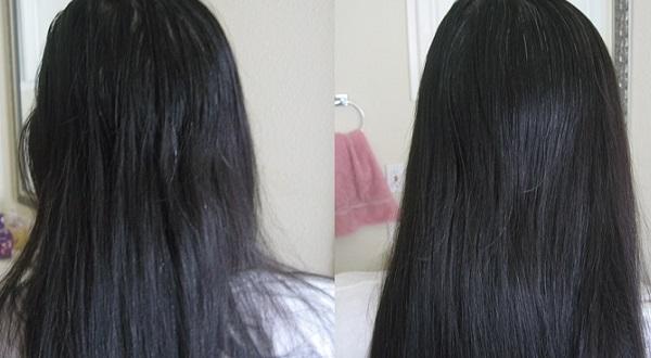 Фото волос: до и после оливкового масла