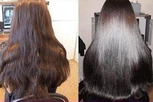 Эффект от применения - фото волос
