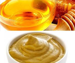 Фото: маска для волос с медом и горчицей