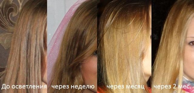 Фото волос, осветленных ромашкой