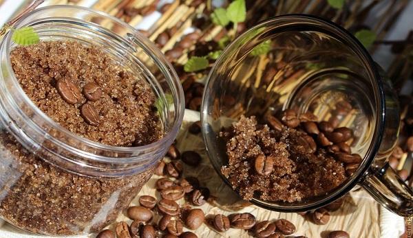 Скраб из кофейного жмыха