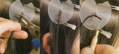 Японская методика наращивания на колечках